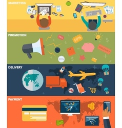 business finance concepts on flat design vector image