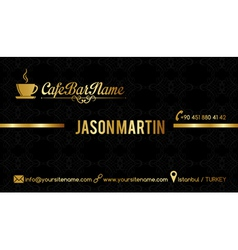Cafe bar business card black vector