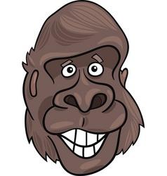cartoon illustration of funny gorilla ape vector image