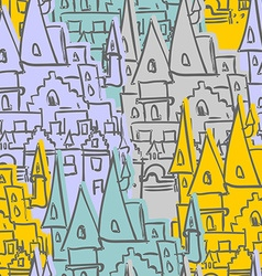 Castle seamless pattern Sketch of old Royal Castle vector image