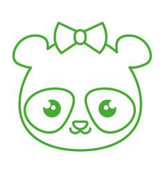 Cute and tender female bear panda kawaii style vector