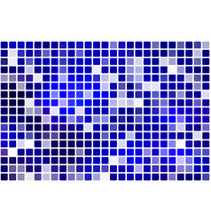 Dark blue occasional opacity mosaic over white vector