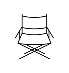 Directors chair icon vector