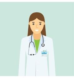 Doctor specialist nurse medical staff vector image
