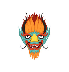 Dragon face symbol of chinese boat festival vector