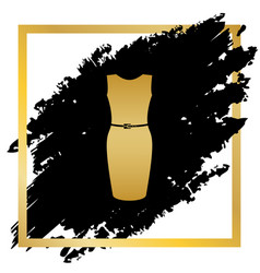 dress sign golden icon at vector image