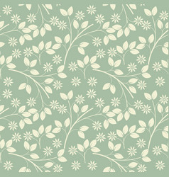 Endless pattern with ivory flowers and leaves vector