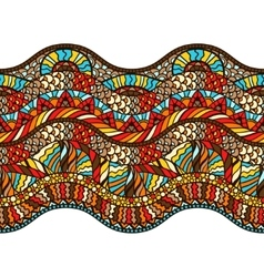 Ethnic seamless pattern with hand drawn ornament vector image vector image