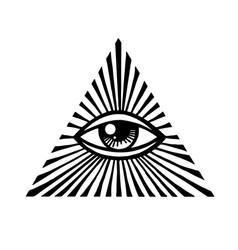 eye providence masonic symbol all seeing eye vector image