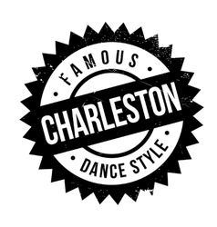 Famous dance style Charleston stamp vector image