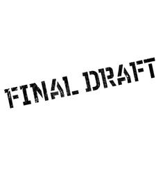 Final Draft rubber stamp vector
