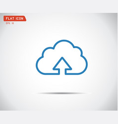 flat cloud upload icon abstract logo vector image