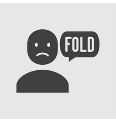 Fold icon vector