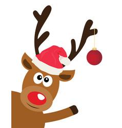fun reindeer vector image