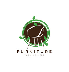 furniture logo designsymbol and icon chairs vector image