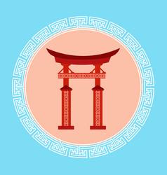 Gates seoul landmark icon south korea travel vector