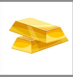 Gold bar icon cartoon style vector