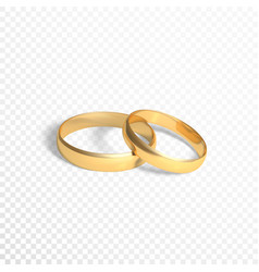 golden rings symbol marriage two gold rings vector image
