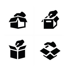 hand and box icon design vector image