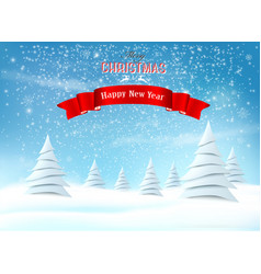holiday christmas background with a snowflakes vector image