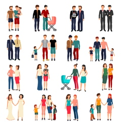 Homosexual Couples Set vector image