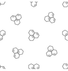 honey comb icon outline style vector image