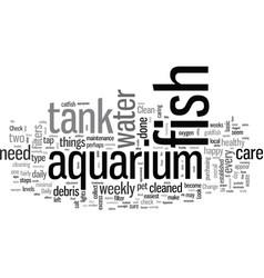 How to care for aquarium fish vector