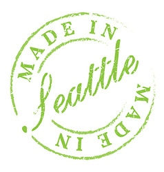 Made in Seattle eco stamp vector image