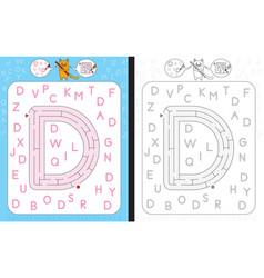 Maze letter d vector