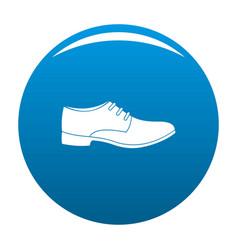 Men shoe icon blue vector