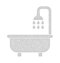 Mesh shower bath icon vector