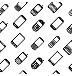 Mobile phones seamless pattern vector image