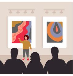 museum art gallery 3 vector image