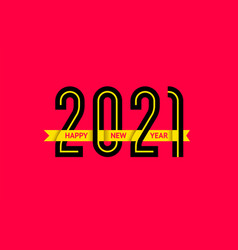 new year 2021 text design vector image