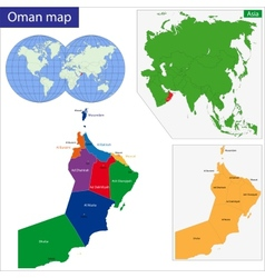 Oman map vector