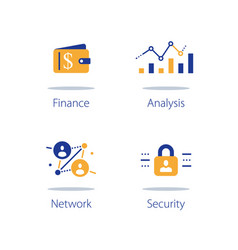 Online finance internet banking web security vector