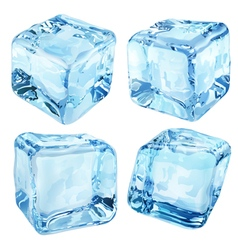 Opaque blue ice cubes vector