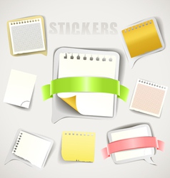 Paper stickers with ribbons collection vector image