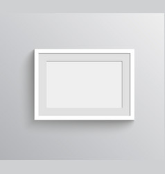 Picture frame for painting show vector