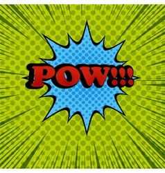 Pow comic cartoon wording vector