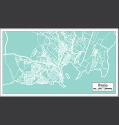 Praia cape verde city map in retro style outline vector