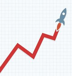 Profit Rocket vector image