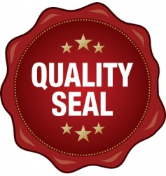 quality seal vector image