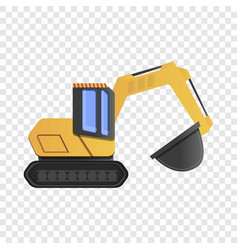 quarry excavator icon cartoon style vector image