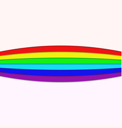 Rainbow colored curved stripes - page divider vector