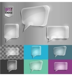 Rectangle and square set of glass shape speech vector image