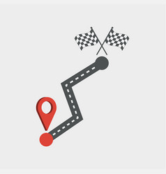road and location icon vector image