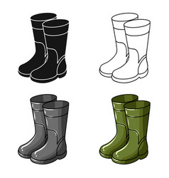 rubber boots icon in cartoon style isolated on vector image