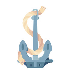 sea maritime icon anchor rope vector image