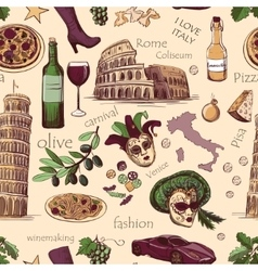 Seamless pattern of Italy vector